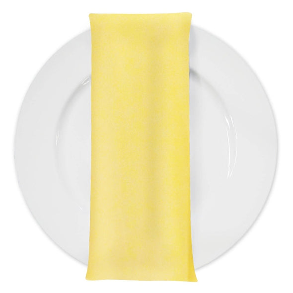 Premium Polyester (Poplin) Table Napkin in Yellow 1904