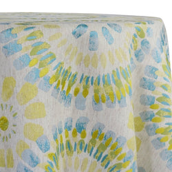 Sundaze Jacquard (Reversible) Table Linen in Turquoise and Yellow