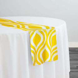 Groovy Print (Lamour) Table Runner in Yellow