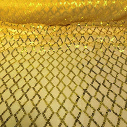 Vortex Sequins Table Linen in Yellow