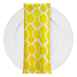 Halo Print Lamour Table Napkin in Yellow