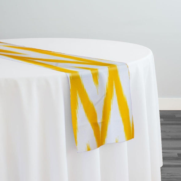 Horizon Poly Print Table Runner in Yellow