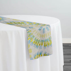 Sundaze Jacquard (Reversible) Table Runner in Turquoise and Yellow