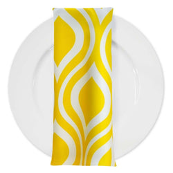 Groovy Print Lamour Table Napkin in Yellow