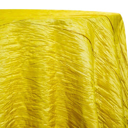 Accordion Taffeta Table Linen in Yellow