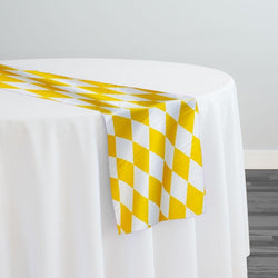 Harlequin Print (Lamour) Table Runner in Yellow