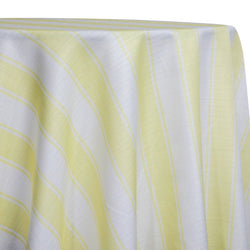 Cabana Stripe Table Linen in Yellow
