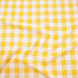 Polyester Checker (Gingham) Table Linen in Dark Yellow