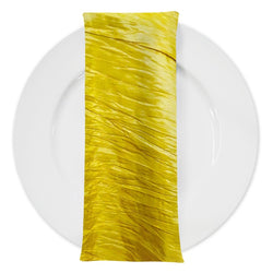 Accordion Taffeta Table Napkin in Yellow
