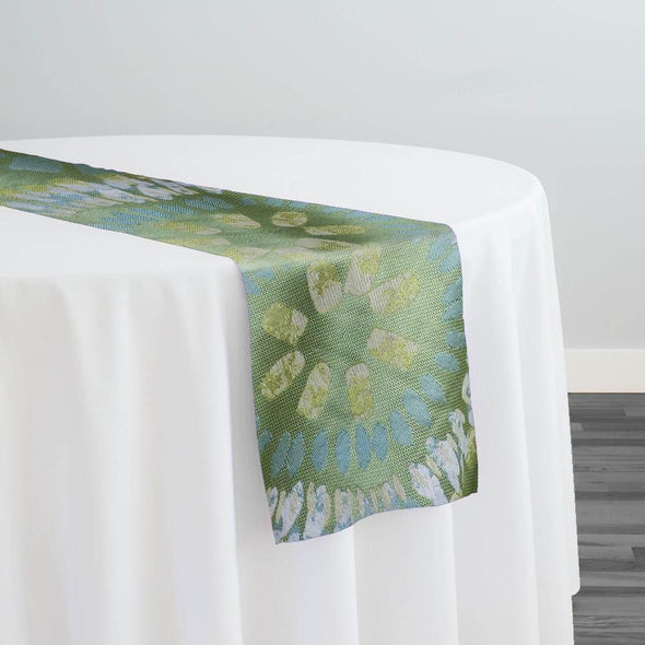Sundaze Jacquard (Reversible) Table Runner in Yellow and Blue