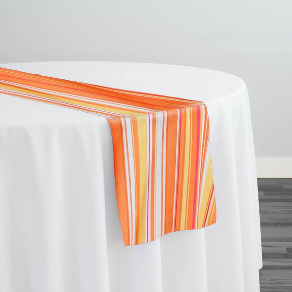 Multi-Color Stripe Table Runner in Sunset
