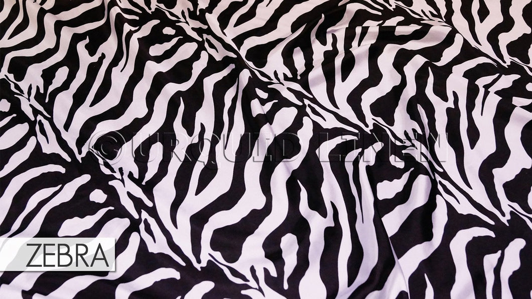 "42pcs - Animal Print - 8""x108"" Sash w/ Slanted Ends - Zebra"