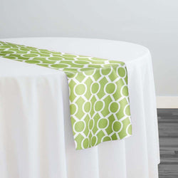 Halo Print (Lamour) Table Runner in Avocado