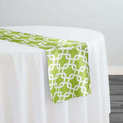 Lynx Print (Lamour) Table Runner in Avocado