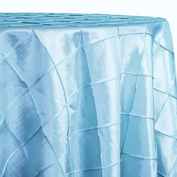 "4"" Pintuck Taffeta Table Linen in Baby Blue 071"