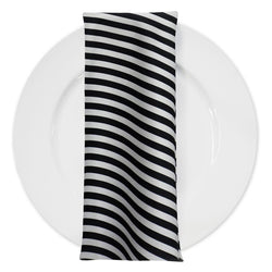 Seersucker (Poly Print) Table Napkin in Black