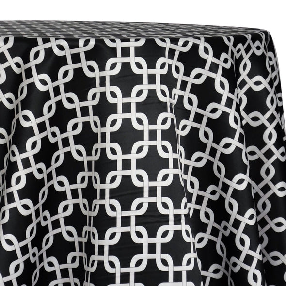 Lynx Print (Lamour) Table Linen in Black
