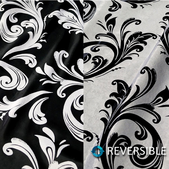Regal Jacquard (Double-Sided) Wholesale Fabric in Black