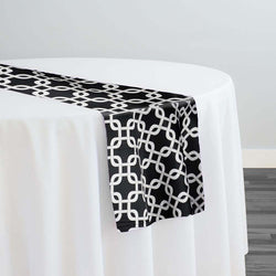 Lynx Print (Lamour) Table Runner in Black