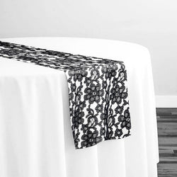 Classic Lace Table Runner in Black