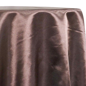 Shantung Satin (Reversible) Table Linen in Brown