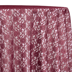 Classic Lace Table Linen in Burgundy 1539