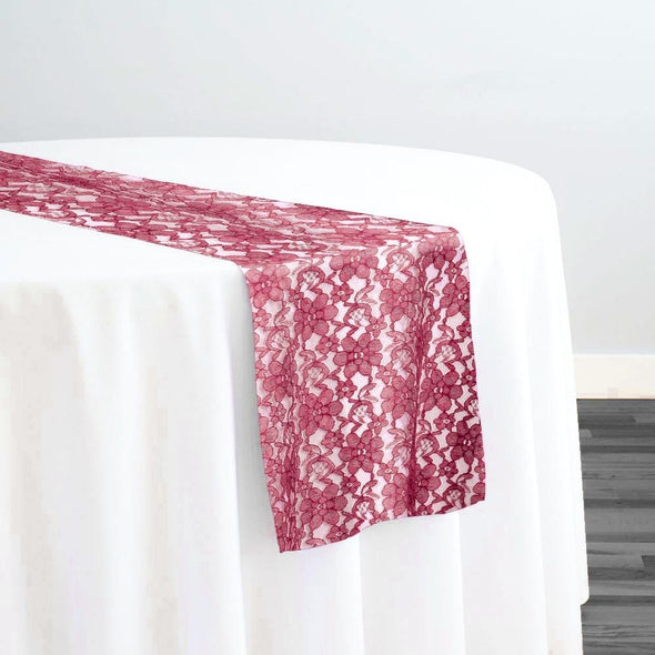Classic Lace Table Runner in Burgundy 1539