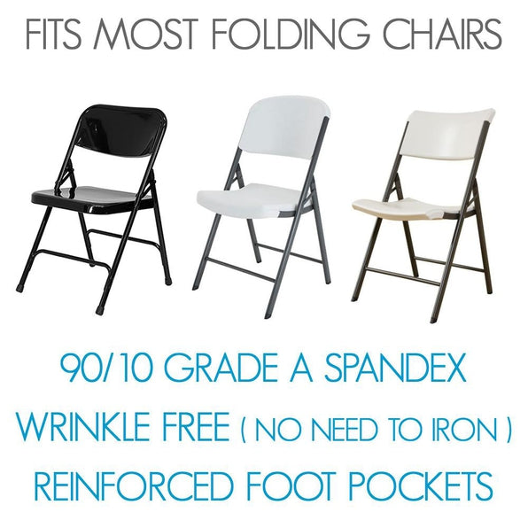 Standard 90/10 Spandex Folding Chair Cover