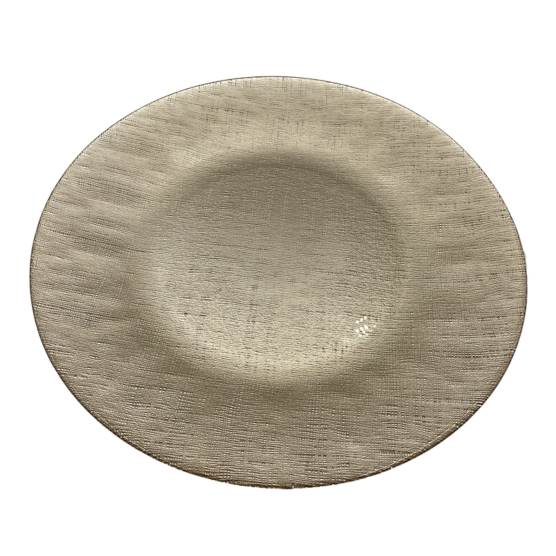 Linen - Glass Charger Plate in Champagne