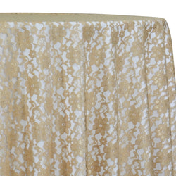 Classic Lace Table Linen in Champagne 1341