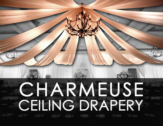 Charmeuse Satin Ceiling Drape Collection