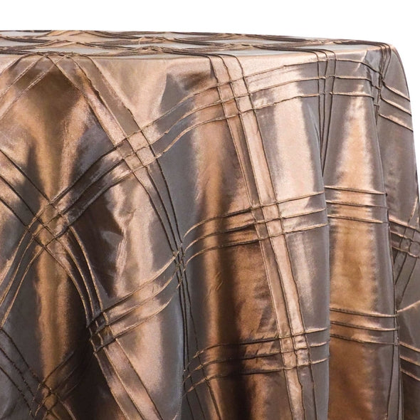 Triple Pleat Pintuck Table Linens in Chocolate