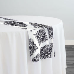Lamour Prints Table Runner in Classic Damask