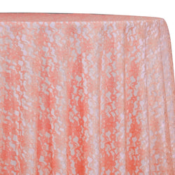 Classic Lace Table Linen in Coral 1203