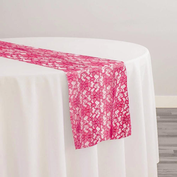 Classic Lace Table Runner in Coral 1208
