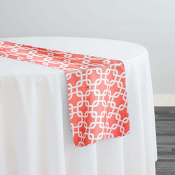 Lynx Print (Lamour) Table Runner in Coral
