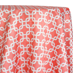 Lynx Print (Lamour) Table Linen in Coral