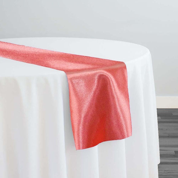 Shantung Satin Table Runner in Coral