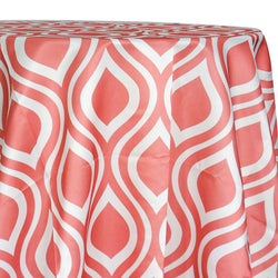 Groovy Print (Lamour) Table Linen in Coral