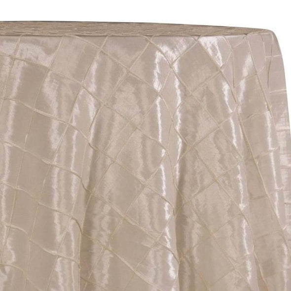 "2"" Pintuck Taffeta Table Linens in Cream"