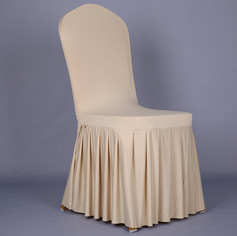 Pleated Skirt Chair Cover For Ballroom Banquet Chair