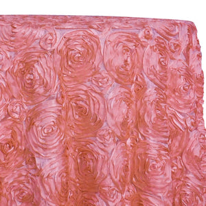 Rose Satin (3D) Table Linen in Dusty Rose