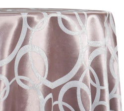 Cirque Jacquard (Reversible) Table Linen in Dusty Rose