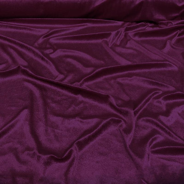 Lush Velvet Wholesale Fabric in Eggplant