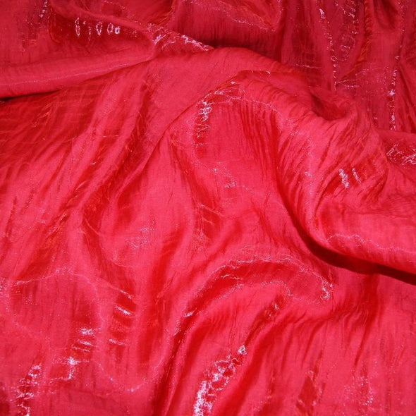 Crush Shimmer (Galaxy) Wholesale Fabric in Tango Red 34