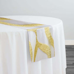 Tabriz Organza Table Runner in Gold