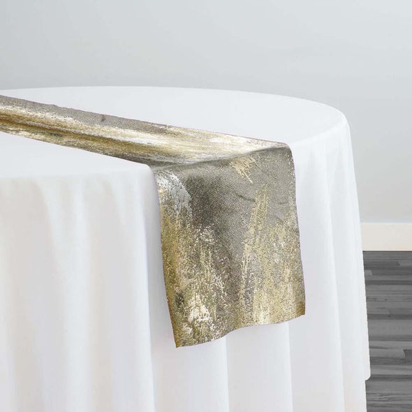 Element Jacquard Table Runner in Gold