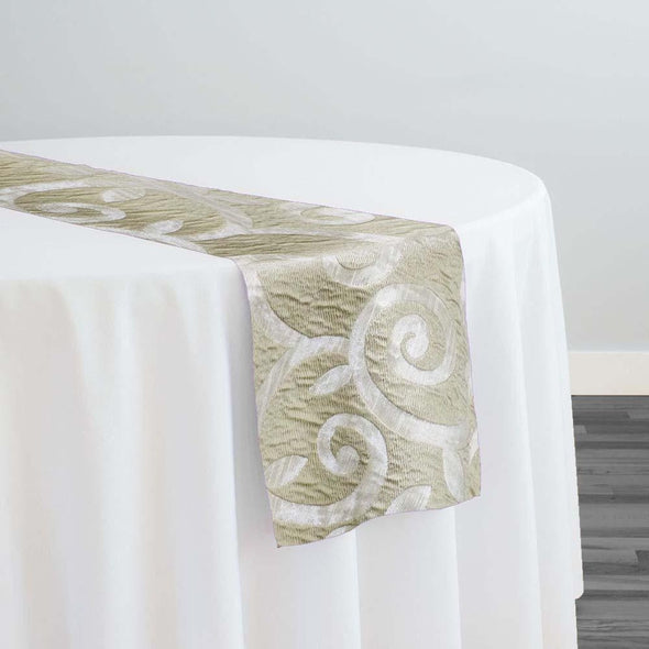 Tuscany Jacquard (Reversible) Table Runner in Ivory