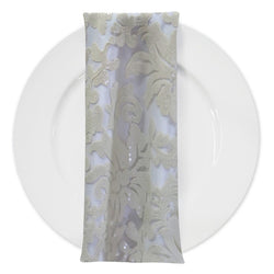 Milan Lace (w/ Poly Lining) Table Napkin in Ivory