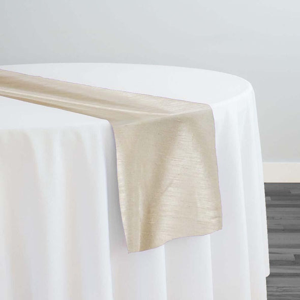 Shantung Satin Table Runner in Ivory